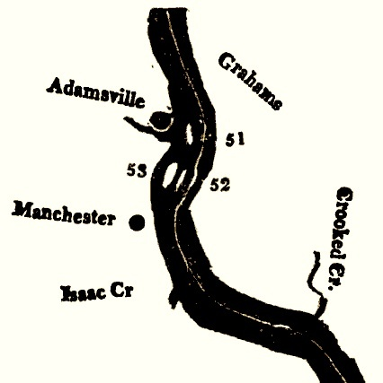 Zadock Cramer's Map of Adamsville, Ohio (c. 1802).