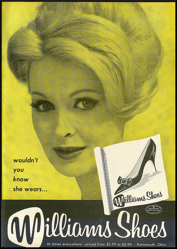 """wouldn't you know she wears ...,"" advertisement from Williams Manufacturing (c.1960)."