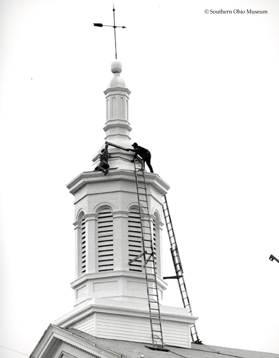 Repairing the Cupola of First Presbyterian Church (1986)
