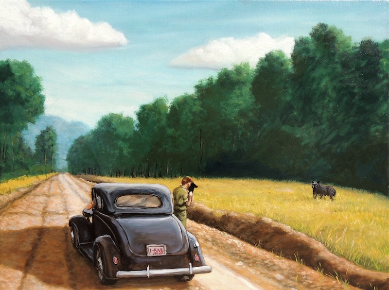 """Black Bear in the Shawnee Forest"" by Herb Roe (2013)."