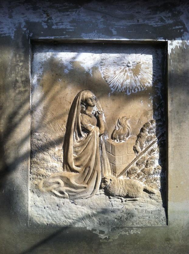 Tombstone of David Gharky, Carey's Run Cemetery, Washington Township, Scioto County, Ohio.