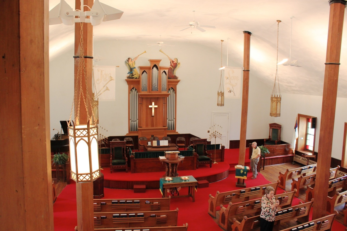 Interior, First Presbyterian Church, West Union, Adams County, Ohio (2012).