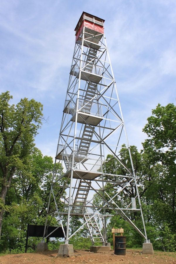 Copperhead Fire Tower, built 1924, Shawnee State Forest, Scioto County, Ohio (2011).