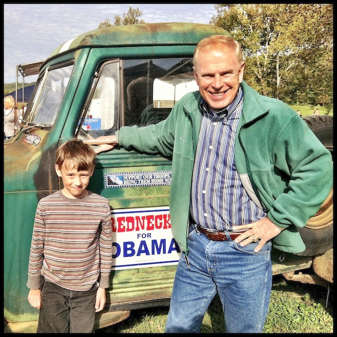 Gov. Ted Strickland & Henry Feight, Simon's Old-Fashioned Sorghum-Making Festival, Scioto County, Ohio (2012).
