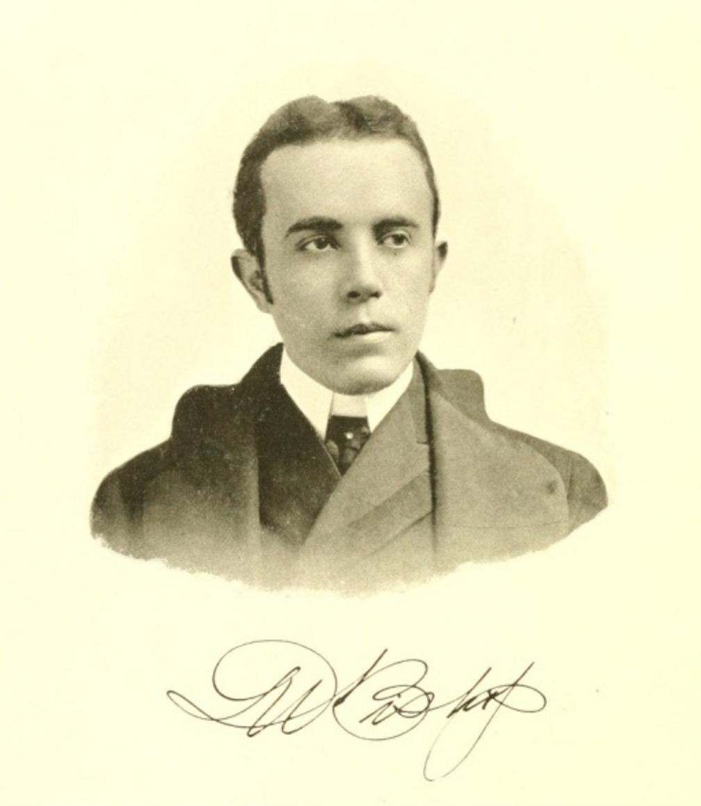 Nicholas N. Bishop, clothes designer for Sanford, Varner, & Co., author of <em>The Modern Designer</em> (1900).