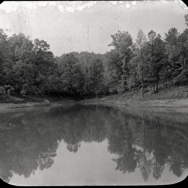 View of Bear Lake, Shawnee State Forest, Scioto County, Ohio (c. 1935).
