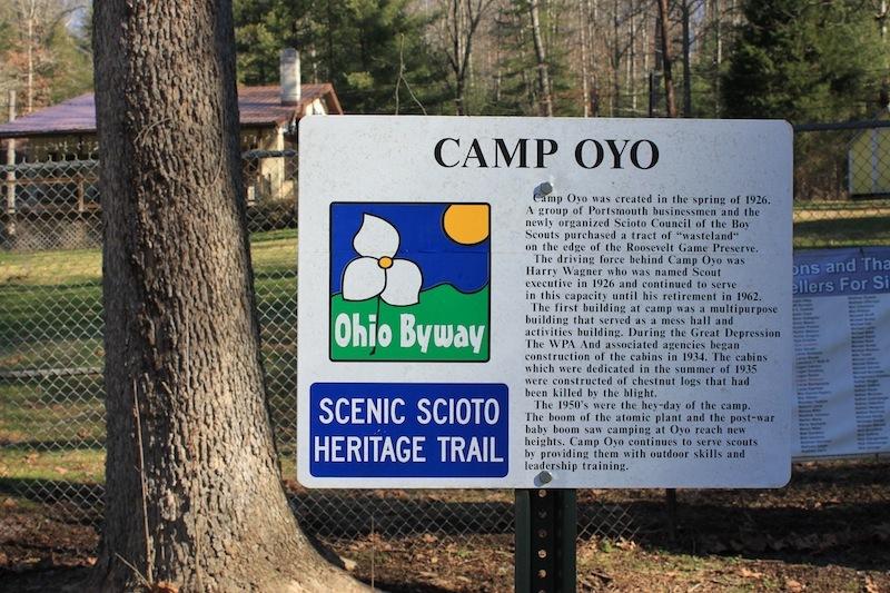 Camp Oyo, Scenic Scioto Heritage Trail Marker (13 December 2012).