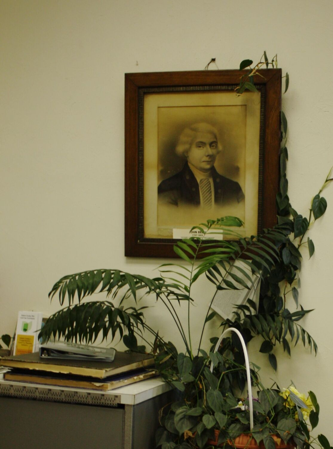 Portrait of Maj. John Belli, Recorder's Office, Adams County Court House, West Union, Ohio