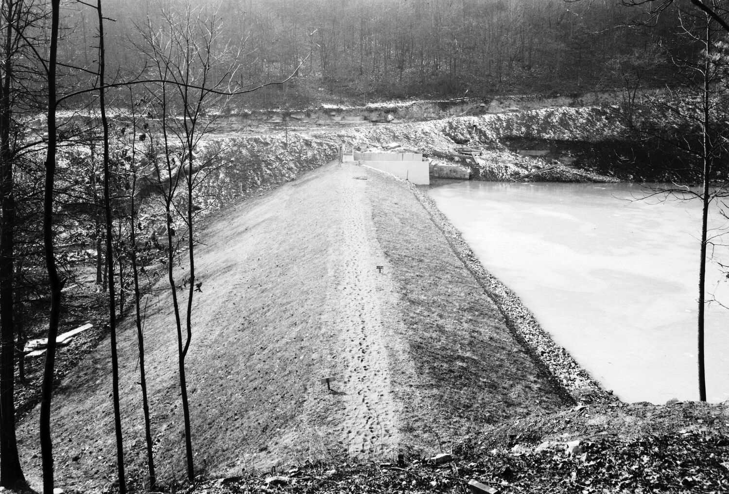 View of Wolfden Lake Dam (c. 1935).