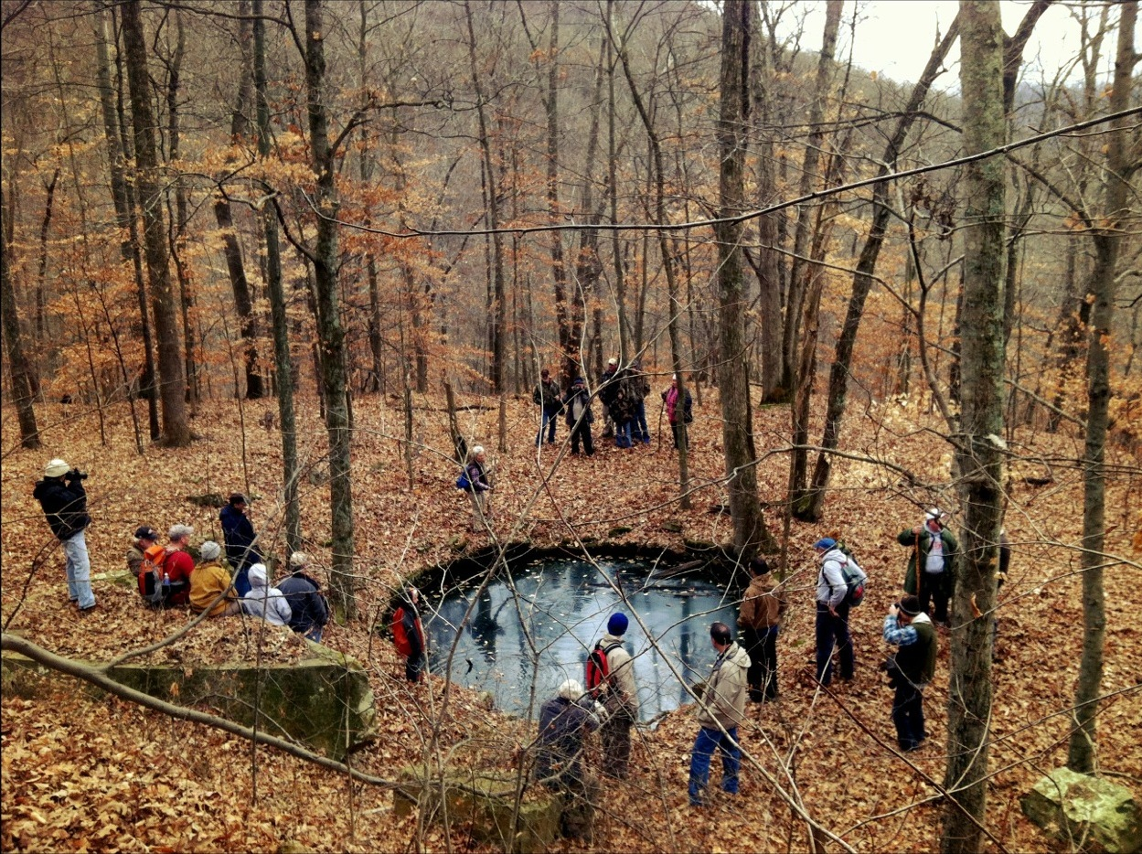 View of the Central Cistern in Vastine Hollow, Shawnee Wilderness Area, Adams County, Ohio (24 November 2012).