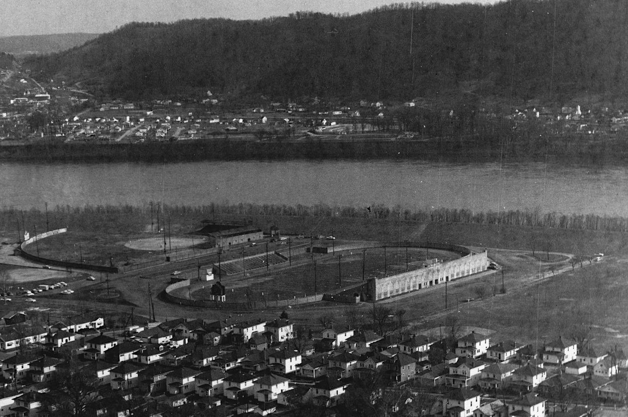 Aerial View of Spartan Municipal Stadium (c. 1955).