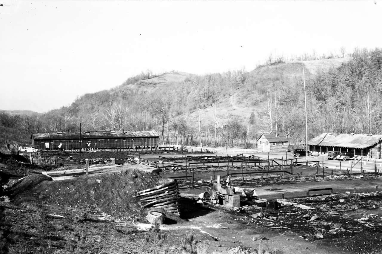 Burned-Out CCC Camp Adams (1934)