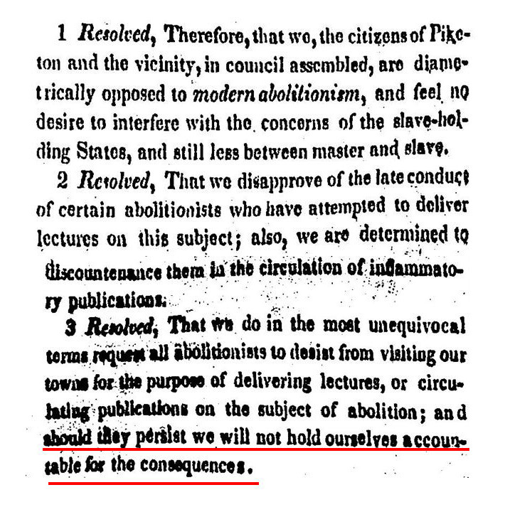 Piketon Anti-Abolition Resolutions (1836).