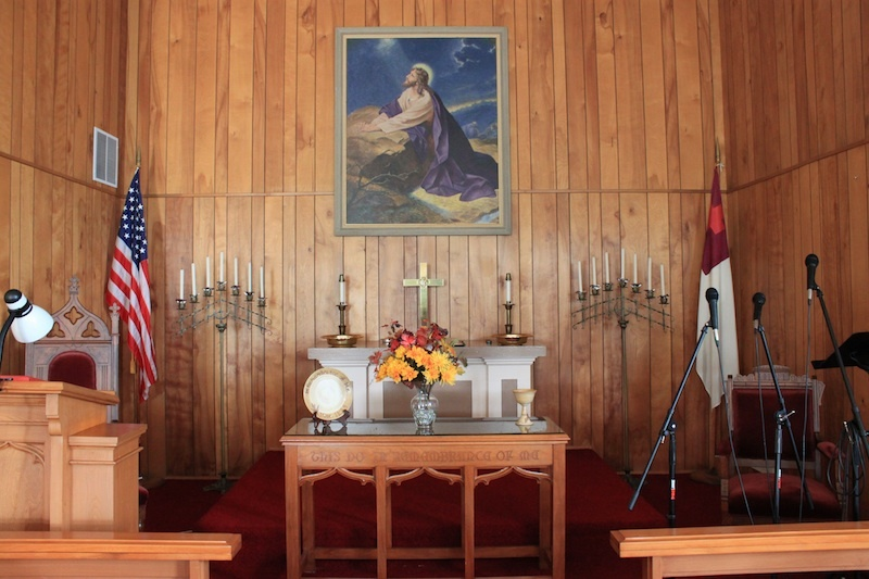 Interior, Crouse Methodist Chapel, Ross County, Ohio (2012).
