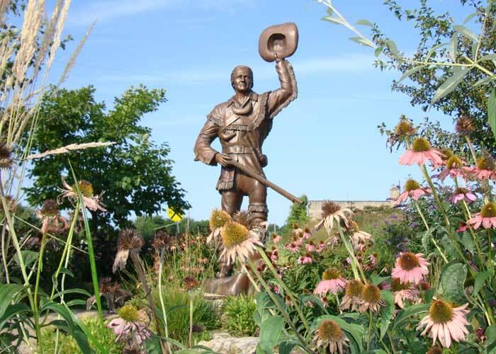 George Rogers Clark Statue by Don Morris, Flora Depot Museum, Flora, Illinois.