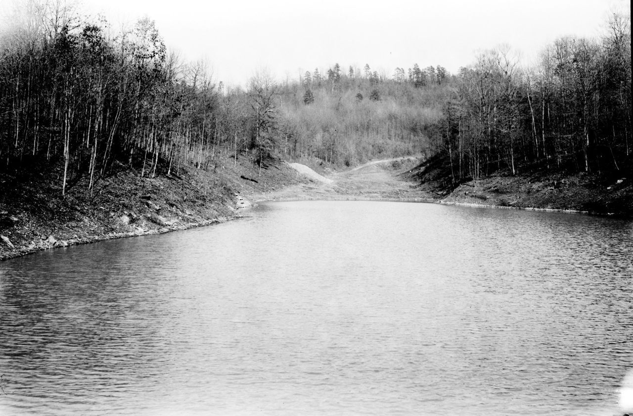 Churn Creek Reservoir, Shawnee State Forest, Adams County, Ohio (c. 1934).