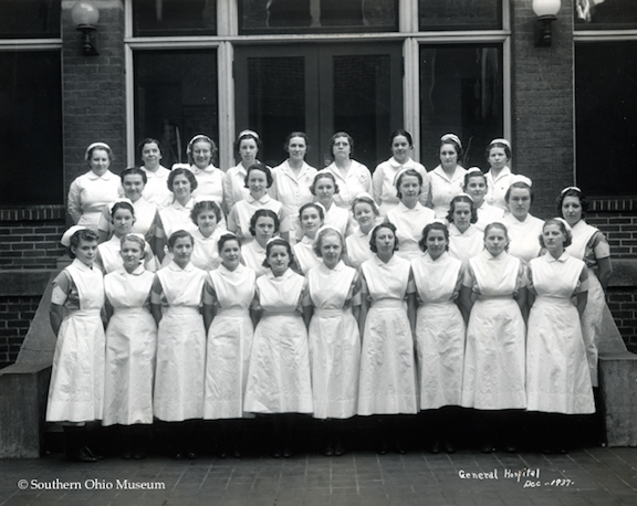 Nurses at Portsmouth General Hospital (December 1937)