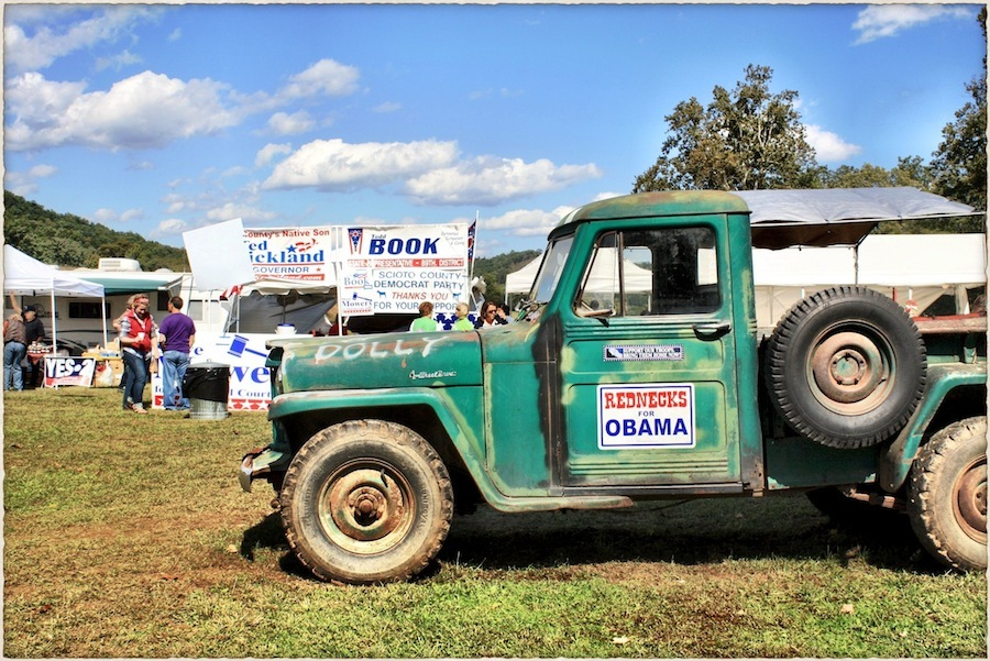 Rednecks for Obama, Simon's Old-Fashioned Sorghum-Making Festival, Scioto County, Ohio (2008).