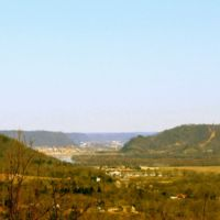View of the City of Portsmouth from Picnic Point, Shawnee State Forest, Scioto County, Ohio (2012)