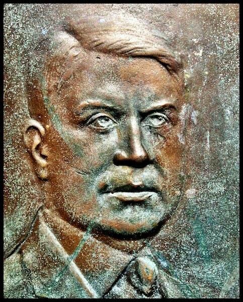 Gov. Harry Davis, detail from the Theodore Roosevelt Preserve Dedication Memorial, Shawnee State Park, Scioto County, Ohio (2012).