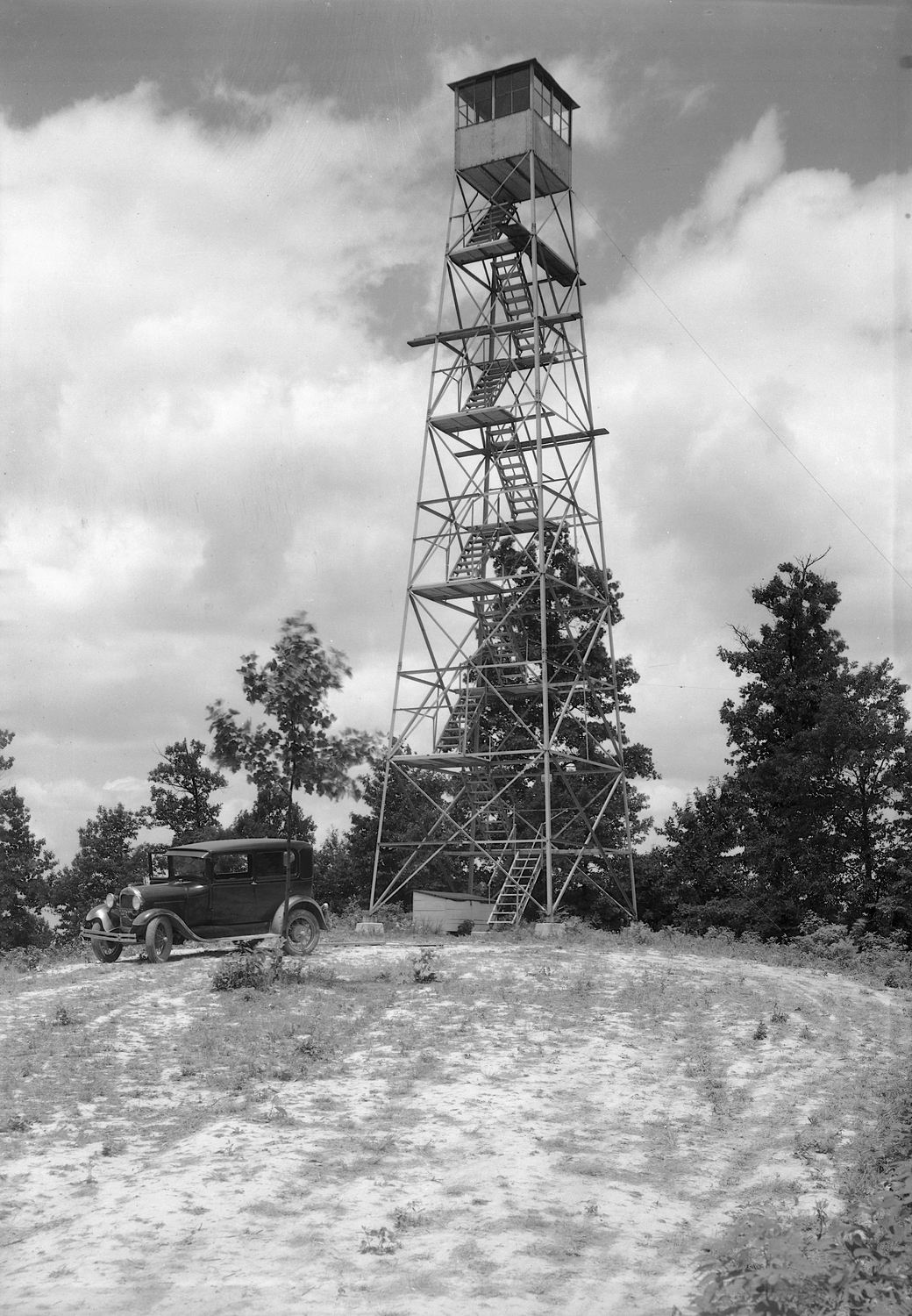 Copperhead Fire Tower, Shawnee State Forest (c.1934).