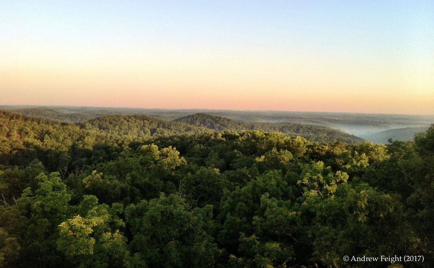 Another summer solstice sunrise  in Shawnee State Forest.