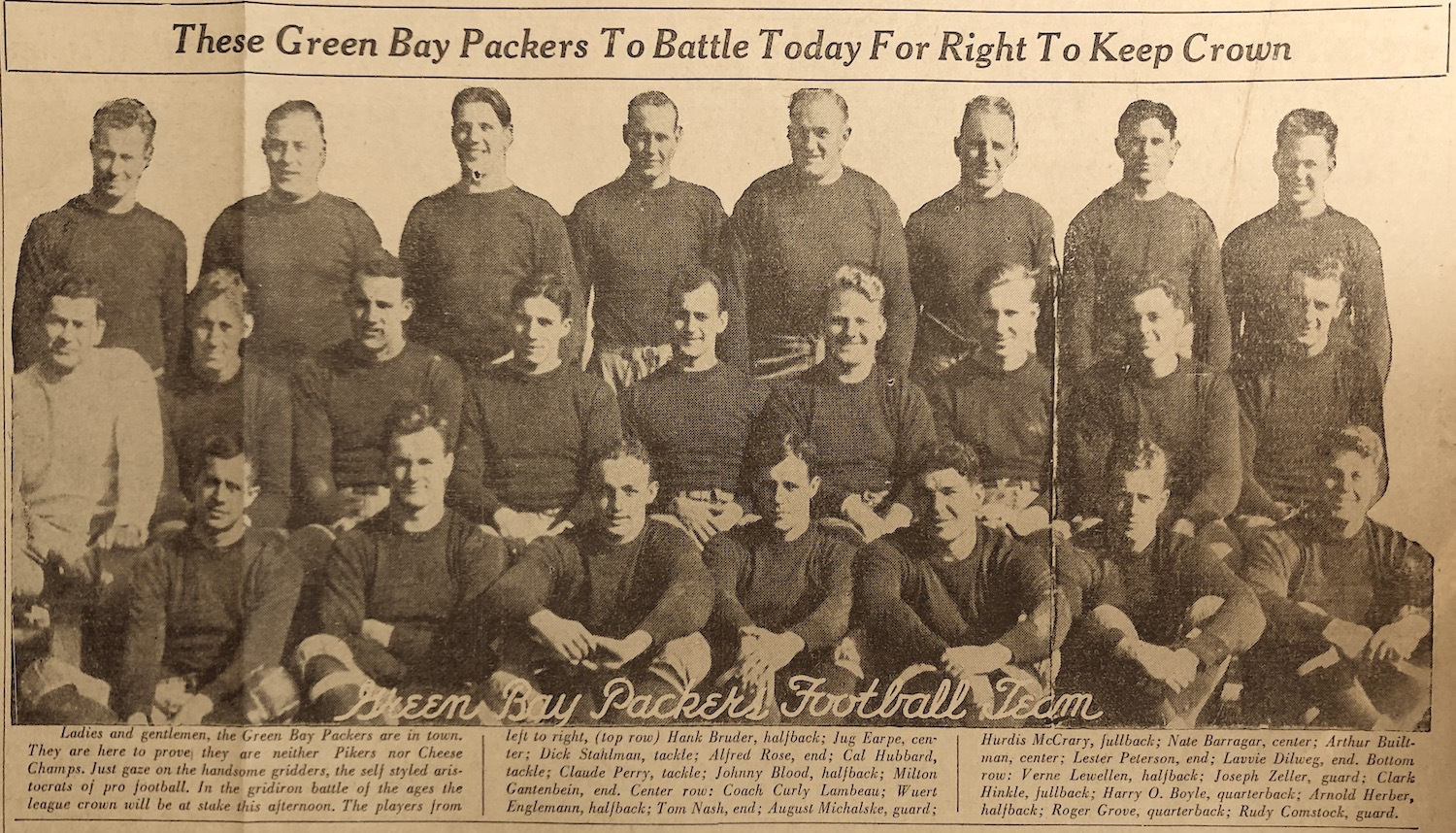 The 1932 Green Packers Football Team
