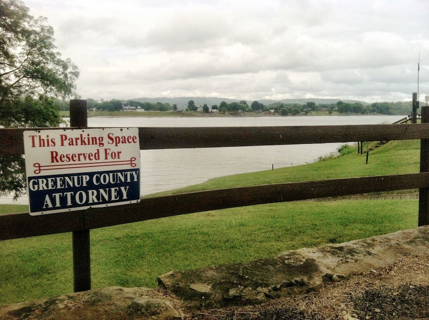 View of the Ohio River from the County Courthouse, Greenup, Kentucky (7 June 2013).