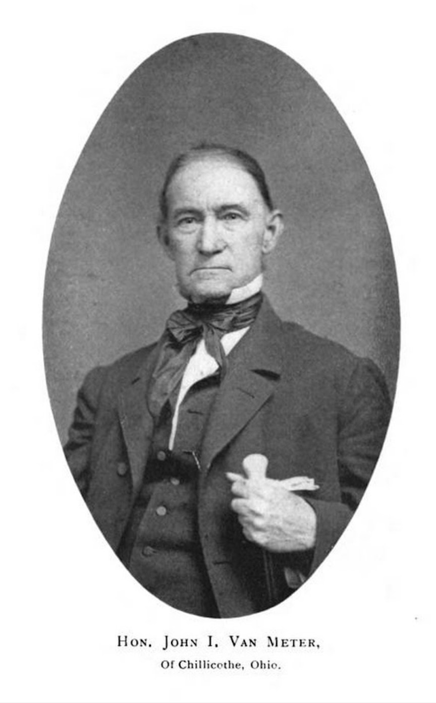 Hon. John Inskeep Van Meter, Whig Congressman, helped author the Piketon Anti-Abolition Resolutions of 1836.
