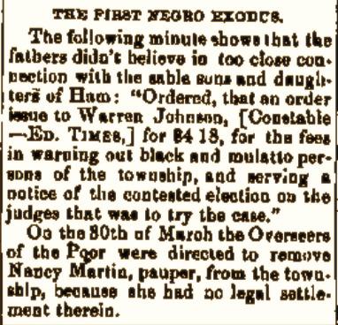 """The First Negro Exodus"" (1818)."